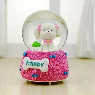 Grande Blu huashangbaihuodian 8-10cm Universo Rainbow Unicorn Snow Globes with Music in Box Glass Romantica Sfera di Cristallo Regalo di San Valentino per Ragazza