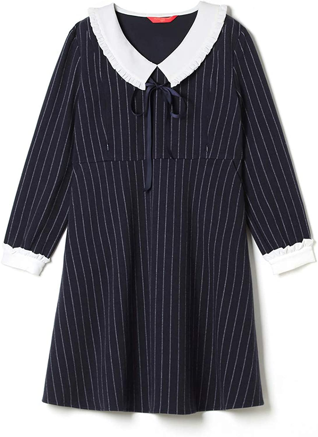 Casual Maternity Clothes Four Seasons Skirt Long Sleeves Stripes Dress Breastfeeding Clothes Pregnancy Clothes Soft and Snug Pregnant Women Gift Wear to Work (color   Natural, Size   M)