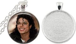 1 Michael Jackson Bezel Pendant Necklace #3