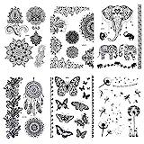 Dr.Pedi Fake Tattoos Temporary Tattoos for Women & Girls Metallic Black Lace...