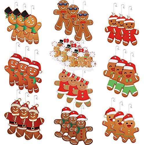 30 Decorazioni per l'Albero di Natale di Pan di Zenzero Ornamenti di Natale con Omino di Pan di Zenzero Set di Decorazioni Natalizie Gingerman Decorazioni Natalizie di Pan di Zenzero