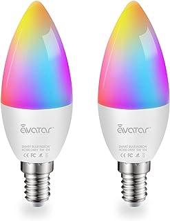 Lampadina Alexa E14, Lampadine LED Smart Lampada WiFi Intelligente 5W=40W 2700K-6500K Luci RGBCW Compatibile con Alexa/Goo...