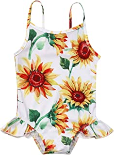 Kids Girls Swimsuit-Waymine Sleeveless Bow Solid Beach Skirt Swimwear Bathing Clothes