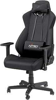 Nitro Concepts S300 ゲーミングチェア オフィスチェア 日本正規代理店品 ファブリック(布) 素材 ドイツ「Caseking」が手がけるチェア ブラック NC-S300-B-JP