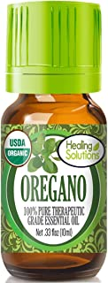 Organic Oregano Essential Oil (100% Pure - USDA Certified Organic) Best Therapeutic Grade Essential Oil - 10ml