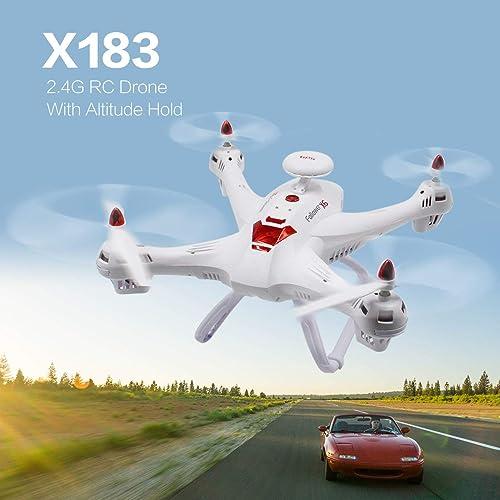 WOSOSYEYO X183 2,4G RC Drohne Headless Modus H  Halten Sie Eine Taste Zurück Mini Fernbedienung Quadrocopter für Kinder (Weiß