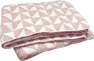 noyydh الديكور التريكو أريكة بطانية، نمط هندسي بطانية عارضة، بطانية واحدة لاستراحة الغداء المكتبي، 170x130cm