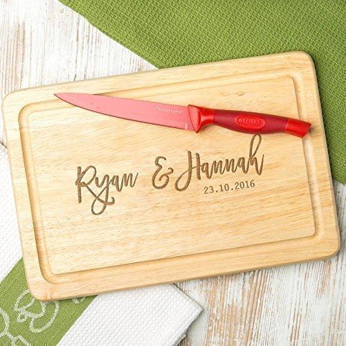 Personalisiertes Schneidebrett - Holz oder Schiefer - Valentinstagsgeschenk für sie - Jahrestag Geschenk für ihn und sie - Weihnachtsgeschenk für Paare
