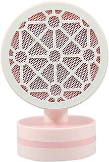 Z&HA Calefactores Cerámicos,Pequeño Termoventiladores De 500W - Oscila Automáticamente,Calefactor Portátil para Escritorios, Cuartos Pequeños,Oficina, Hogar, Dormitorio,Rejilla Rosa,UK Plug