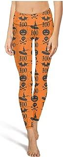 Yujianlfdgue Activewear High Waist Halloween Skull Ghost Leggings Pretty Women Skinny Pants for Yoga