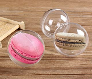 30pcs Transparent Candy Box Plastic Ball Shape Macaron Packaging Supplies Birthday Party Favors