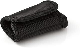 KEY-BAK Duty-Gear Key Silencer with Snap and Split Ring, 2.25 inch (5.7 cm) Belt Loop, Black Smooth Non-Textured Nylon