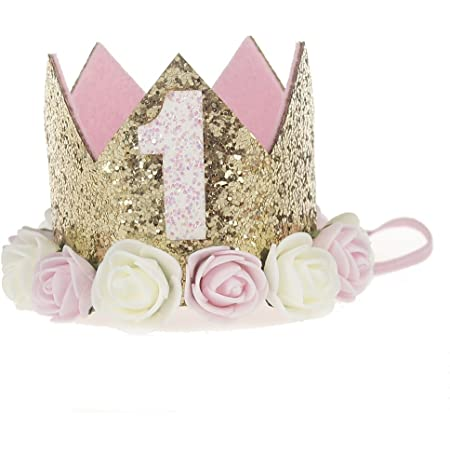 Princess Baby Girl 1st Birthday Flower Crown Party One/&Two Year Hairband Tiar OQ