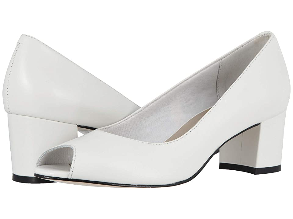 Walking Cradles Jaunt (White Leather) High Heels