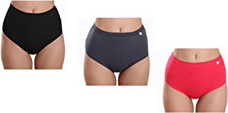 Womens Panties Plus Size High Waist Briefs Breathable Oversize Underwear 3 Packs