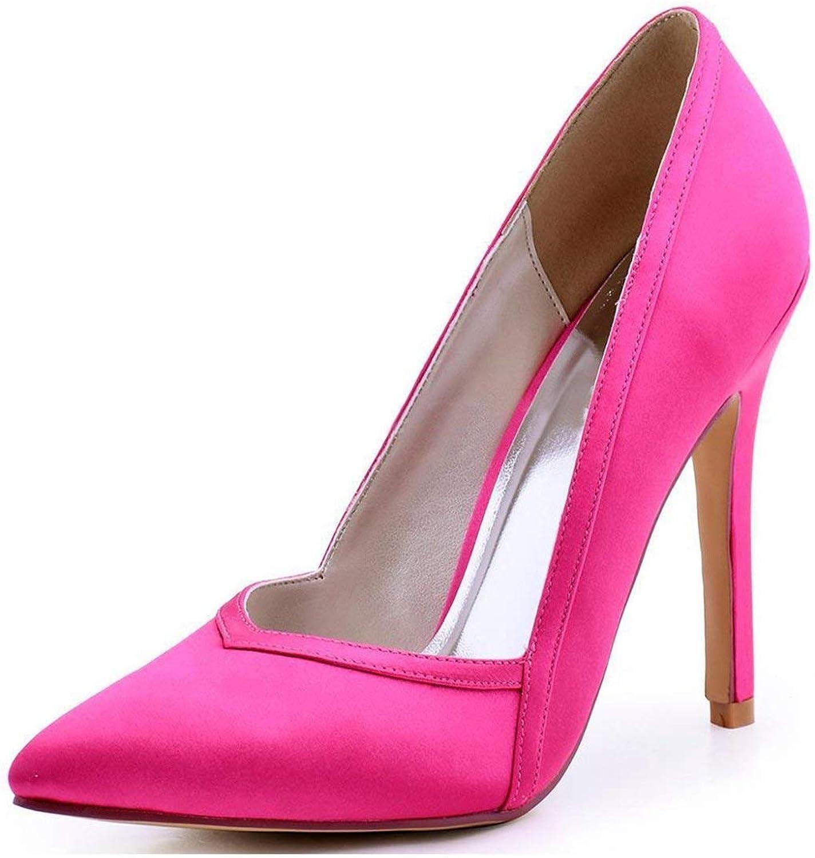 Damen Spitz Stiletto High Heel Lila Satin Hochzeit Abend Pumps UK 2.5 (Farbe   -, Größe   -)  | Angenehmes Aussehen
