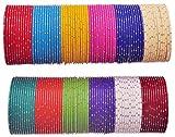 NMII Bangle Set for Women (Multi-Colour) (PP1-2.6)