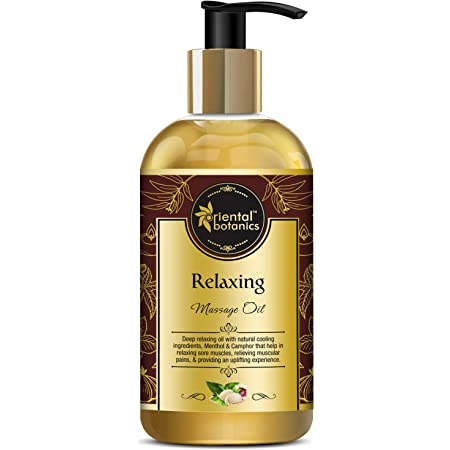 Oriental Botanics Relaxing Body Massage Oil For Pain Relief In Back, Legs, Arms, Knee, Body, 200 ml (ORBOT13)