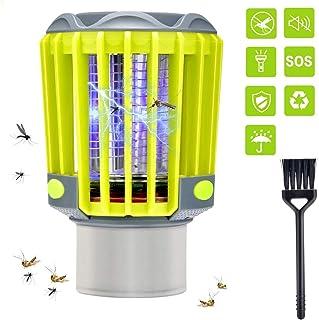 wasserdicht USB wiederaufladbare LED-Lampe mit M/ückenschutz Gelbes Licht Option Beleuchtung f/ür Camping Outdoor Indoor Notf/älle OSALADI 2-in-1 Camping Laterne Bug Zapper Zelt Licht