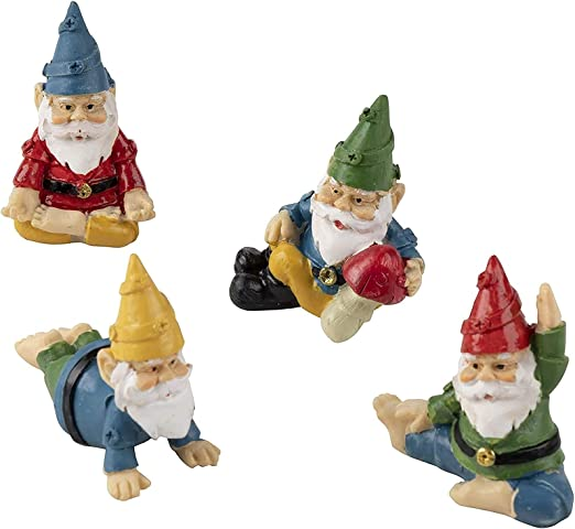 This Adorable Set of Yoga Gnomes