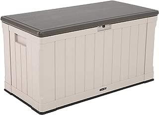 Lifetime Heavy-Duty Resistance Outdoor Storage Deck Box (116 Gallon, Desert Sand)