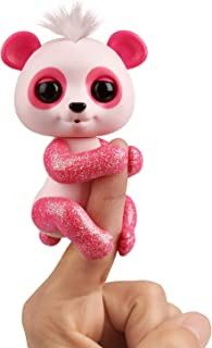 WowWee Fingerlings Glitter Panda - Polly (Pink) - Interactive Collectible Baby Pet