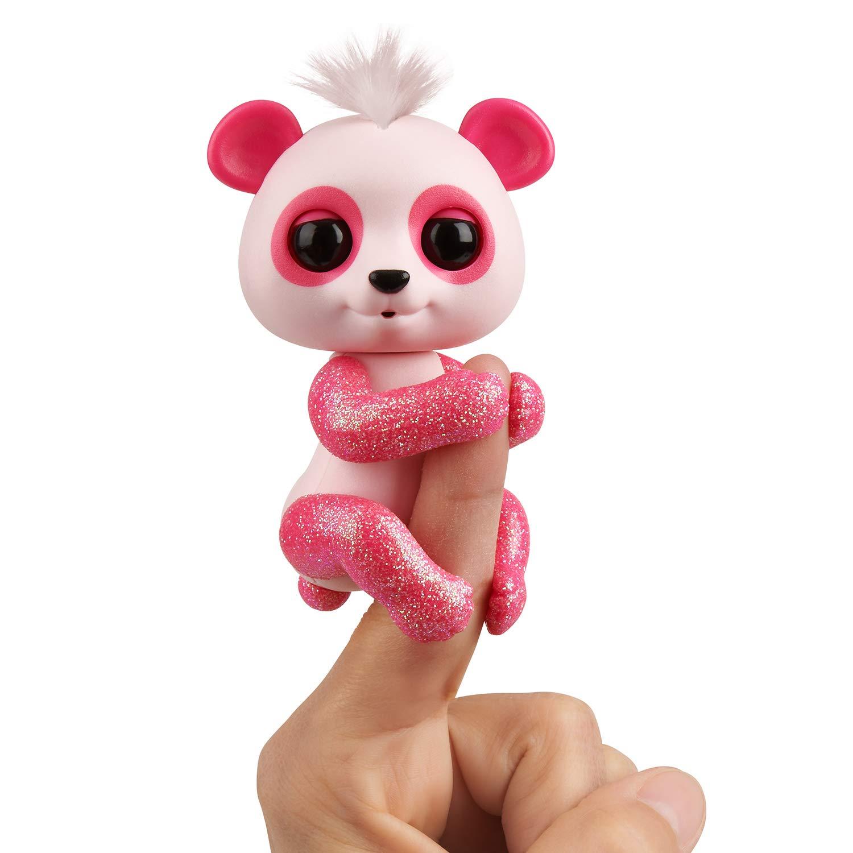 Fingerlings Panda Polly pink mit Glitzer von WowWee interaktives Spielzeug