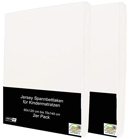 2er Pack Kinder Spannbettlaken 70x140 cm 100/% Microfaser Spannbetttuch f/ür Babybett Kinderbett Anthrazit