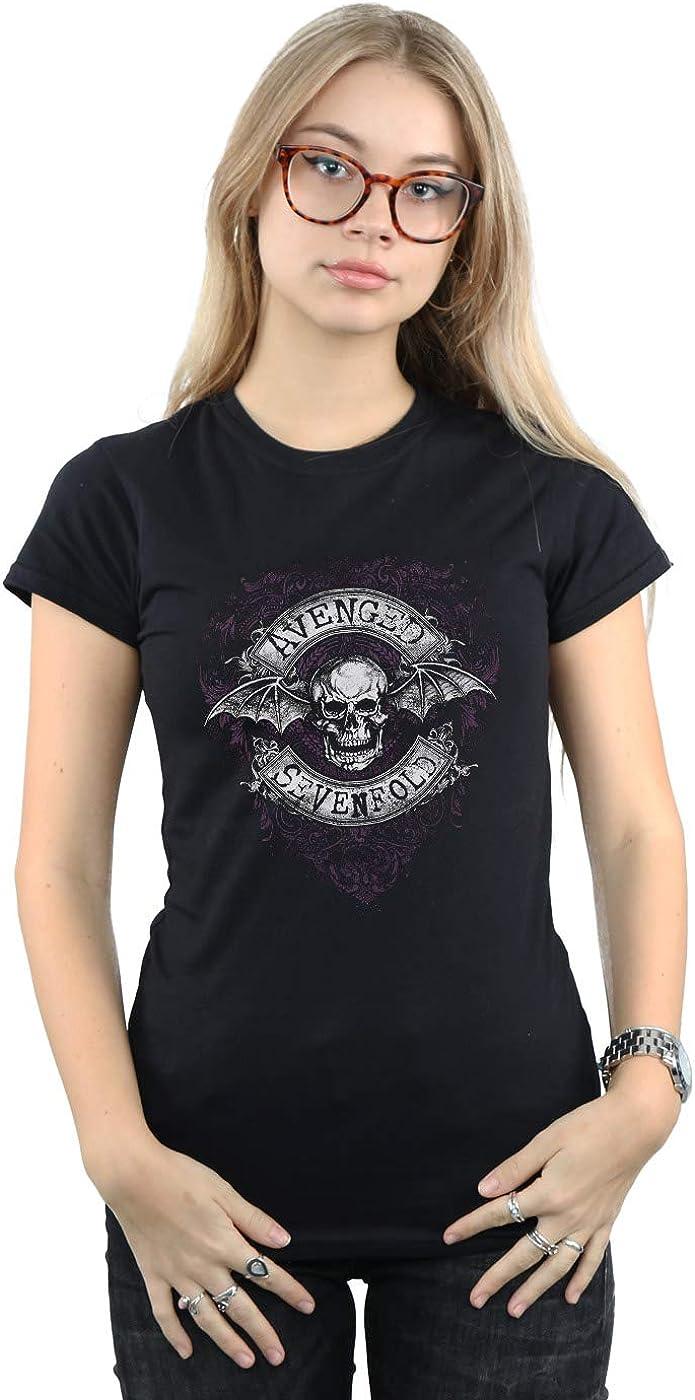 Absolute Cult Avenged Sevenfold Mujer Bat Flourish Camiseta
