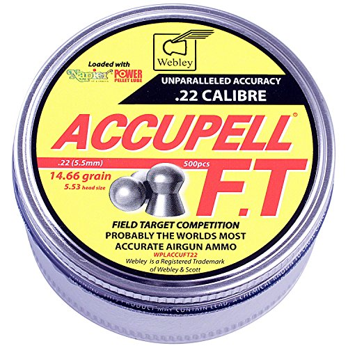 Webley AccuPell FT .22 Target Airgun Pellets With Napier Pellet Lube 500 Tin