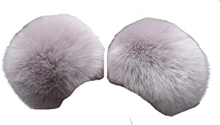 Tngan Winter Faux Fur Arm Warmers Short Furry Wrist Band Ring Cuff for Women