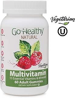 Go Healthy Natural Multivitamin Gummies for Women and Men, Vegetarian, Halal, OU Kosher (60 ct) 30 Servings