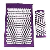 HOMYL Sponge Back Neck Massage Pad Acupressure Mat and Pillow Set Manual Massager