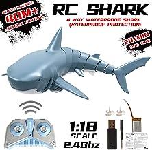 didatecar Tiburón De Control Remoto 2.4G RC Toy Carga USB Proceso De Simulación