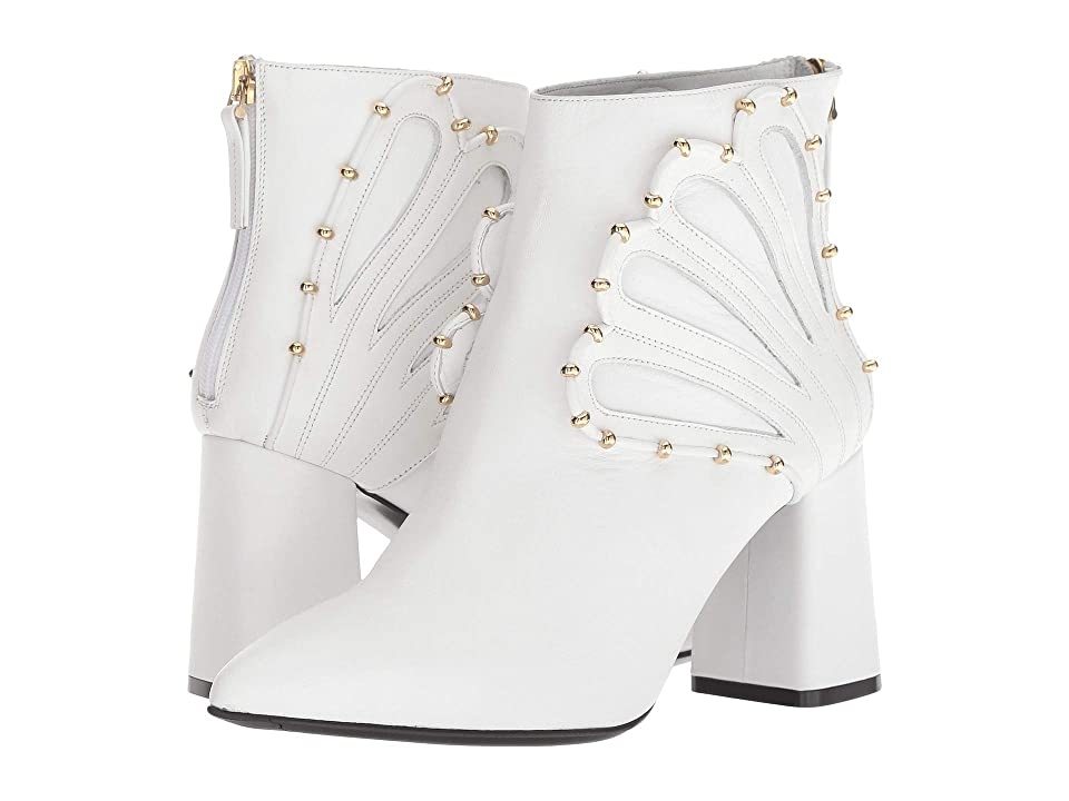 Racine Carree Chunky Heel 85mm Bootie (White) Women