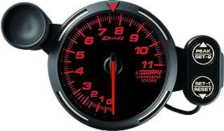 Defi DF12102 Racer Tachometer, 11000 RPM, Red, 80mm