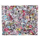 KIMISS 50 75cm Auto Car Cartoon Rock Panda Graffiti Bomb Sticker Wrap Sheet Roll Decals Film