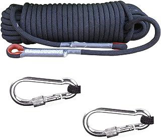 Knowing Cuerda Escalada al Aire Libre, Cuerda Escalada Cuerda Servicio Pesado, con 2 Mosquetón, para Usos al Aire Libre Supervivencia Emergencia, Camping Rescate Incendios