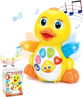 JOYIN Dancing Walking Yellow Duck Baby Toy with Music and LED Light Up for Infants, Toddler Interactive Learning Developme...