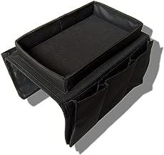 DASKING Accoudoir de Canapé Sac de Rangement Sac de Stockage de Canapé Organisateur Pour Télécommande/Tasse à Thé (Taille unique, Noir)