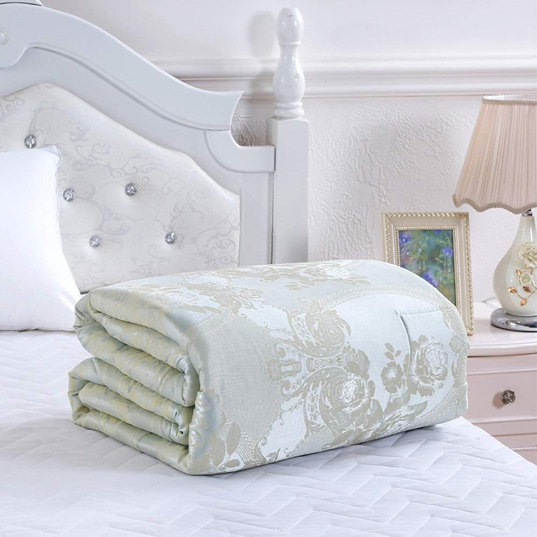 Couette soyeuse hypoallergénique de coton à la maison, couette couverture de sommeil confortable, approvisionneHommests de courtepointe de literie (Couleur   Vert, taille   150  200)