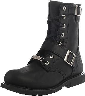 Harley-Davidson Men's Ranger Black 8-inch Leather Boots, Side Buckles. D95264