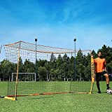 Max4out Portable 12x6 FT Soccer Goal for Backyard, Metal Basic Soccer Net for Practice, Goal Post for Soccer with Carry Bag,(Orange)