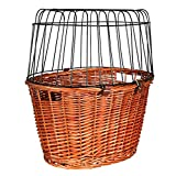 Panier vélo avec grille de protection, 44 × 48 × 33 cm, fauve, pour chat/petit chien