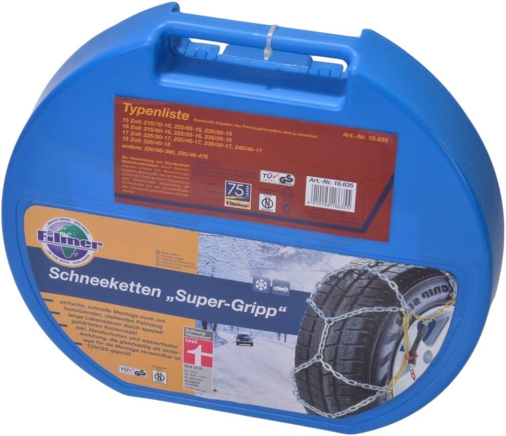 Filmer 18635 Schneekette Super Grip 2 Stück Auto