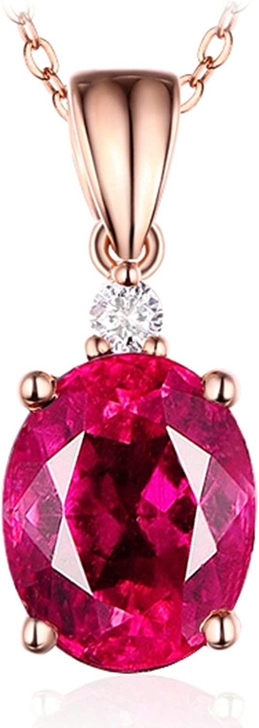 Aokarry Free Shipping Cheap Bargain Gift 18K Rose Gold Necklace for Natural Pigeon Low price Women Blood Ov