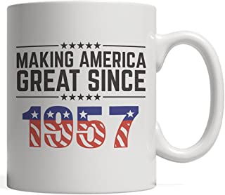 Making America Great Since 1957 Mug - USA Patriotic Anniversary 61st Birthday Gift Idea For Sixty One Years Old American Patriot Who Make This Country Greatness Every Year!
