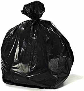 """Plasticplace 55-60 gallon Trash Bags │ 1.5 Mil │ Black Heavy Duty Garbage Can Liners │Rolls │ 38"""" x 58"""" (100Count)"""