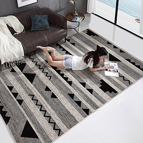 LiuJF Retro tapijt, Scandinavische stijl Europese stijl woonkamer slaapkamer bank thee tafel tapijt huishouden vloermat eenvoudig schoon tapijt lengte 80-140 cm 120 * 160CM B