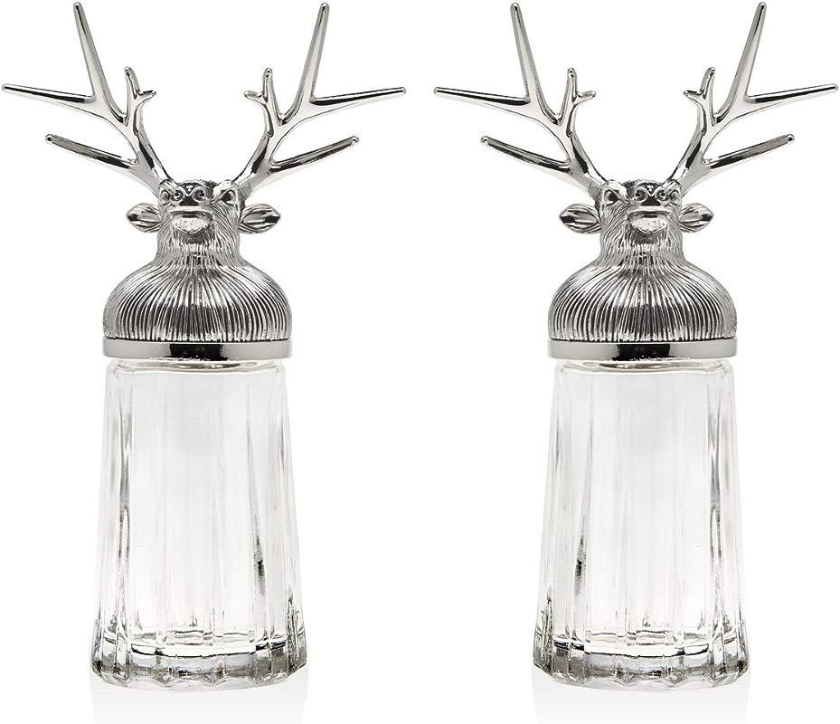 Reindeer Head Salt And Pepper Set
